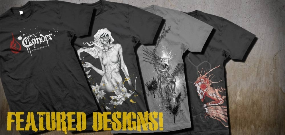 Featured T-Shirts Skull, Naked Lady, Art
